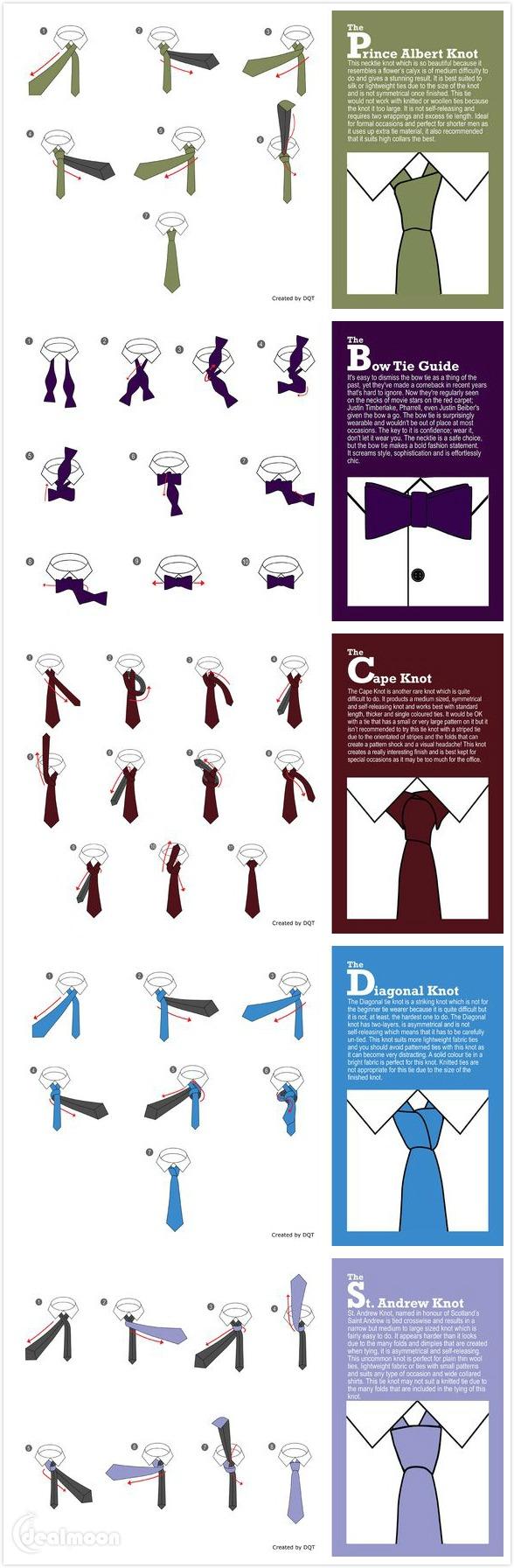 高级领带的6种经典系法!下次照着这样给男神系,就不怕手忙脚乱啦!