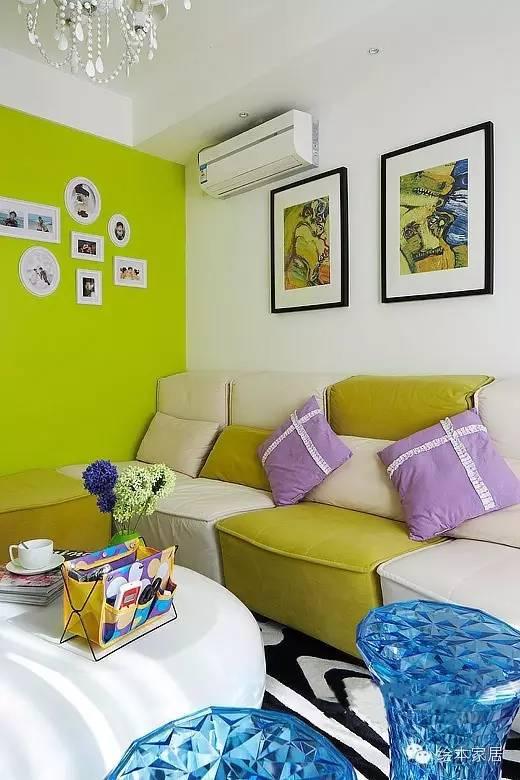 清新绿和暖黄打造的粉嫩舒适家