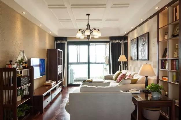 自然随意又雅致 98㎡温馨美式两室两厅