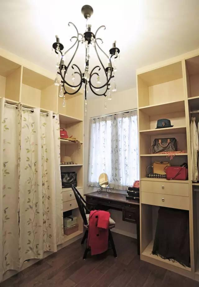 110㎡混搭三居,入门就有一个让人羡慕的衣帽间!