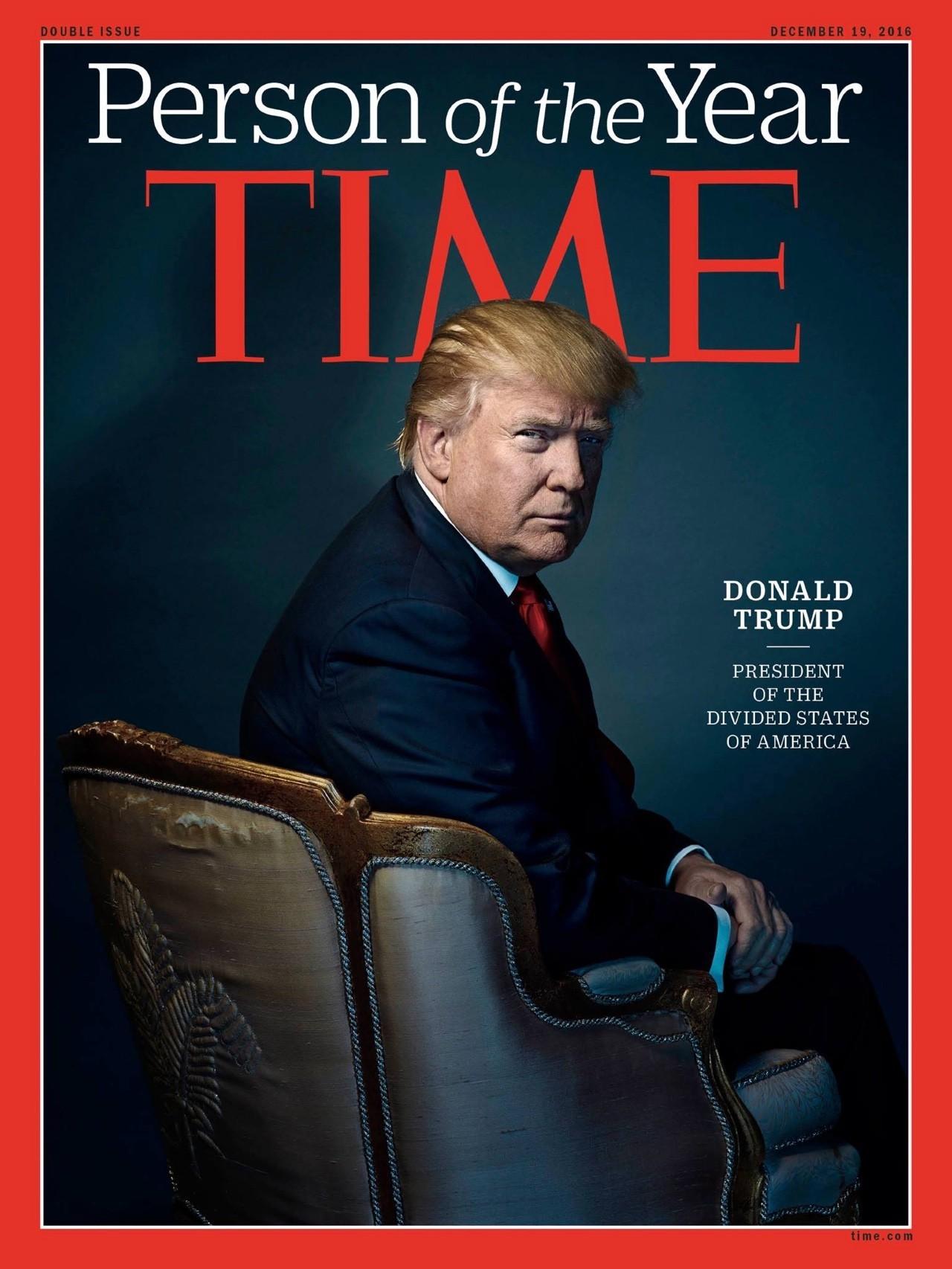 """起底《时代周刊》2016年度人物——""""美利坚分众国总统""""特朗普"""