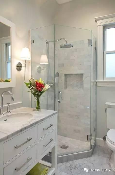 50款小淋浴房设计,集美貌和功能于一身!