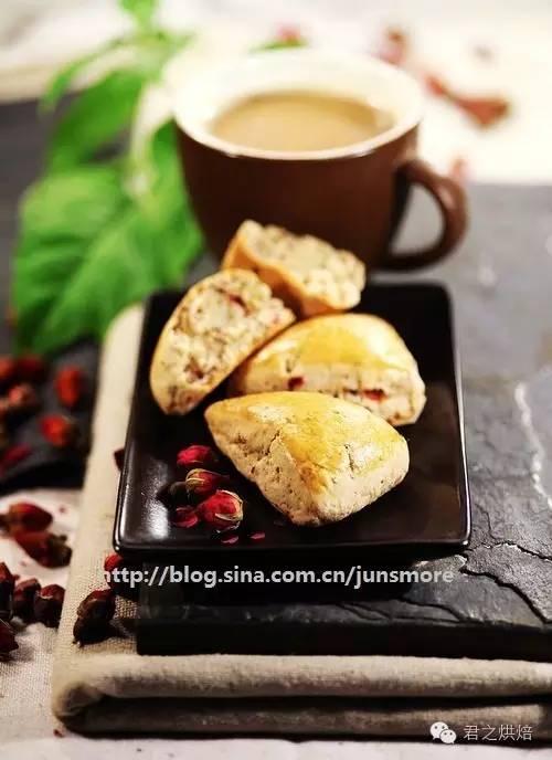 巧克力司康&玫瑰司康,十分钟搞定美味下午茶