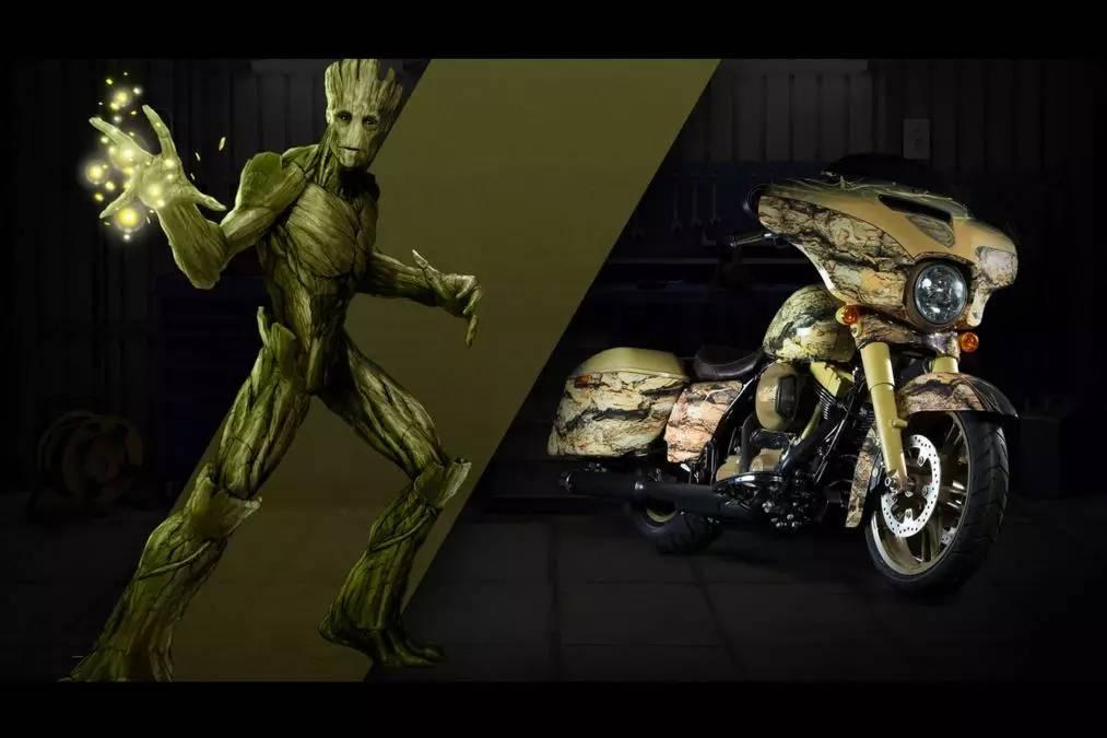 哈雷为美国队长、蜘蛛侠、黑寡妇打造专属摩托车