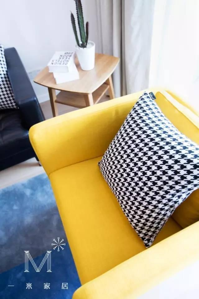 89m²色彩魅力家,感受黄+蓝的撞色之美!