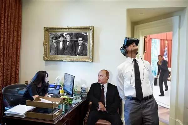 """奥巴马体验VR头盔 照片彻底被网友""""玩坏""""了!"""