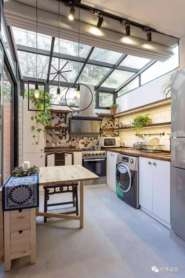 70年代旧房改造,40㎡小房子竟然有阳光大厨房!