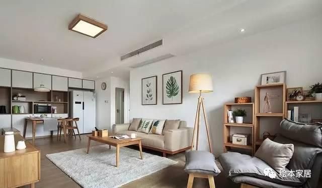 115平三室两厅,简约日式,木色与青色雕饰的家