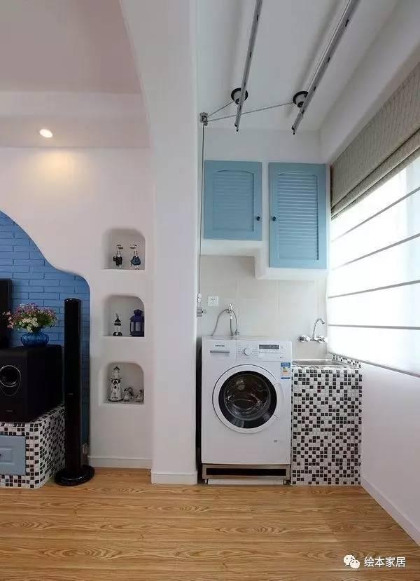 做一个1㎡砖砌阳台洗衣房,实用得不要不要的!