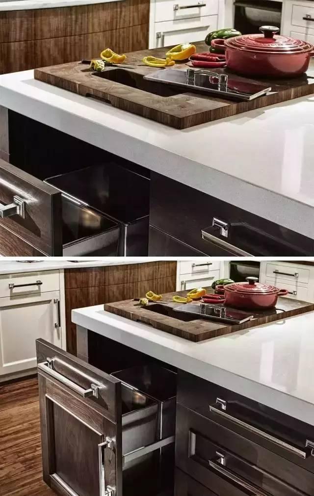 你家厨房垃圾是怎么处理的?人家直接在台面开个口!