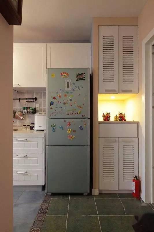 只是在客厅做了一排小矮柜,竟引得小区同户型的都来模仿!