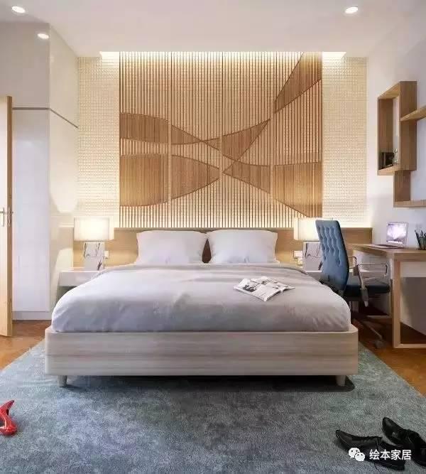 10款卧室条形背景墙装修设计图,强迫症表示很舒服