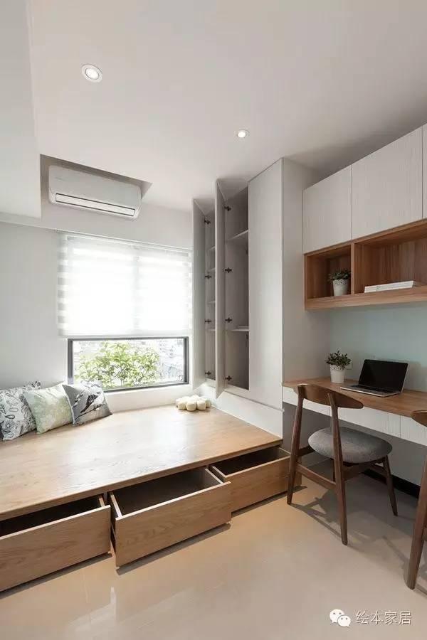 卧室和书房合二为一,简直不能更完美!
