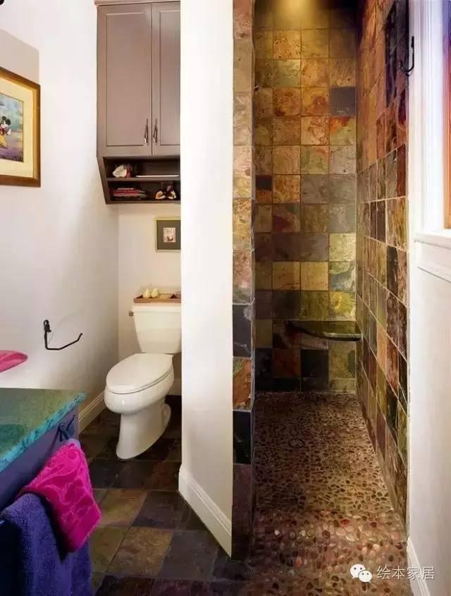 超赞的卫生间干湿分离设计,清洁省力更安全!
