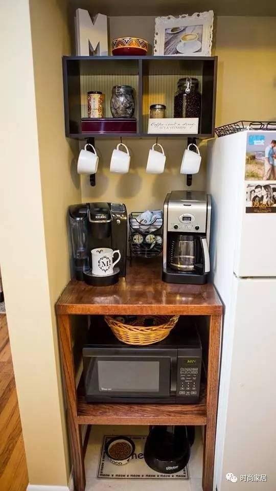 在家打造咖啡角,一个缝隙、一个墙角就够用!