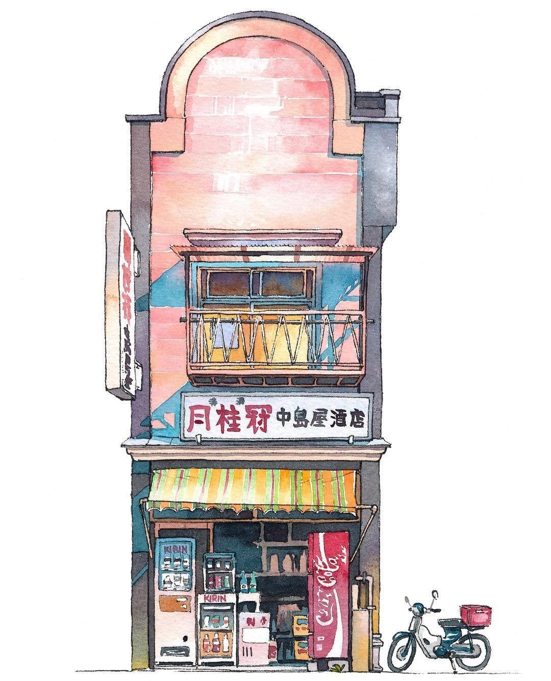 日本是什么样的?在不同风格的画笔下有着不同的样子