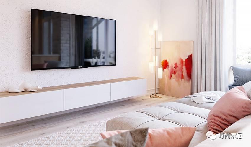 如草莓棉花糖一般的公寓,粉白组合让人内心一软