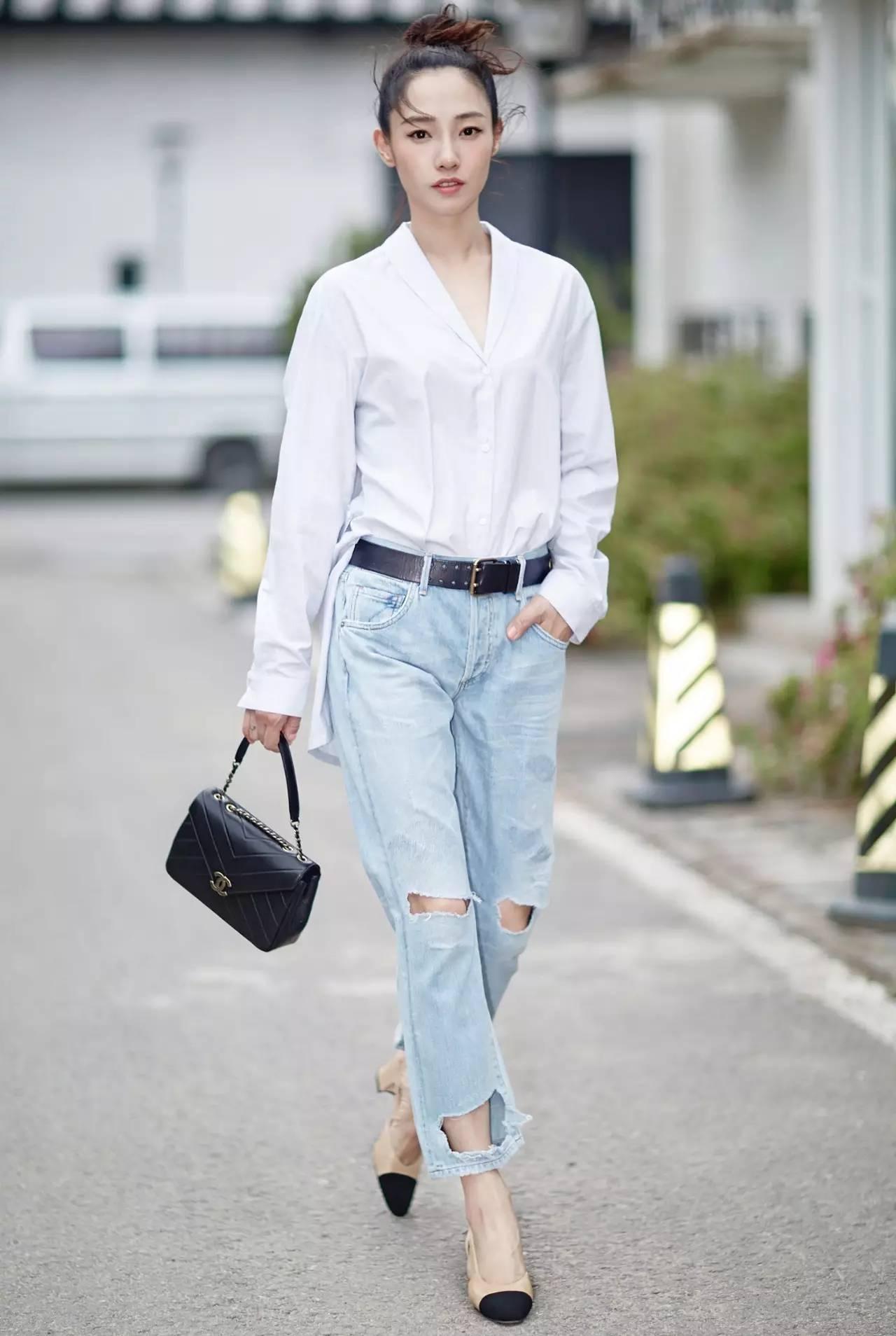 我可以一整个夏天都穿白衬衣,刘诗诗赵薇刘涛都说我美!