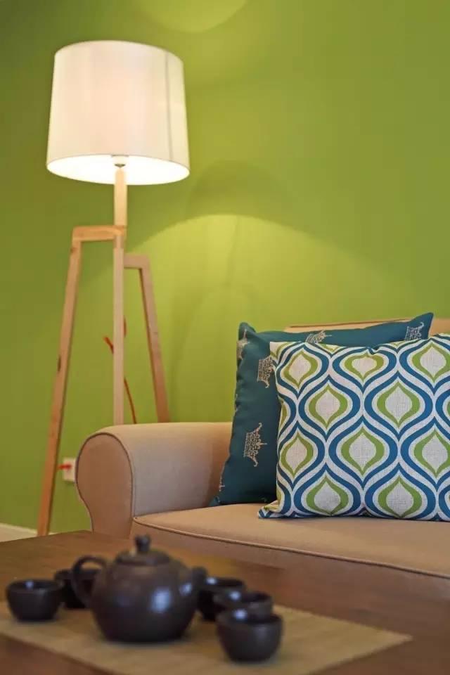 18w装138㎡复古简约,大爱沙发墙的清新绿